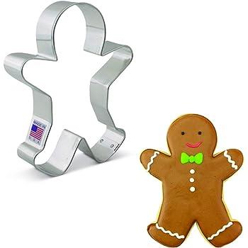 "Ann Clark Cookie Cutters Happy Gingerbread Man Cookie Cutter, 5.25"""