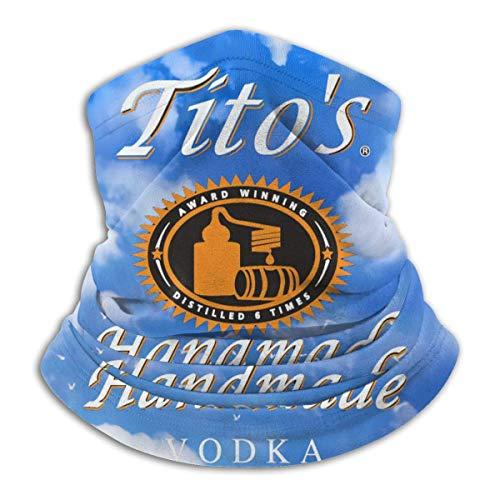 CDMT-XU1 Tito's Handmade Vodka 2, sin costuras, a prueba de viento, a prueba de polvo, bandana, cuello, polaina, cubierta facial