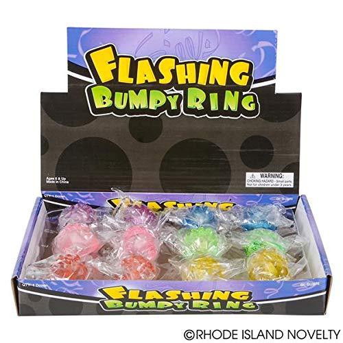 Rhode Island Novelty Flashing LED Bumpy ngs 24-Pack