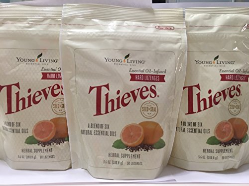 Thieves Hard Lozenges 30 ct (3 Packages) by Young Living Essential Oils