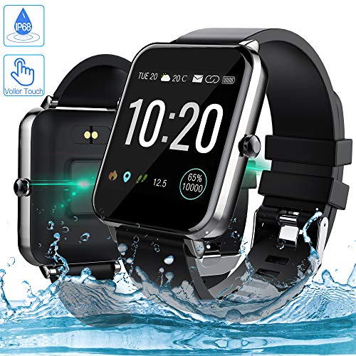 Smartwatch, Zagzog 1,54 Zoll Voller Touch Screen Bluetooth Smartwatch Wasserdicht IP68 Fitness Tracker GPS Sportuhr Armband Pulsuhren Schrittzähler Smartwatch Kompatibel für IOS Android