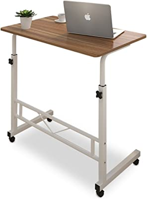 MDBLYJ Laptop Table Computer Table, Home Dining Table, Roller, Desktop Adjustable Support (Color : A)