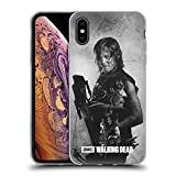 Head Case Designs Officially Licensed AMC The Walking Dead Daryl Double Exposure Soft Gel Case Compatible with Apple iPhone Xs Max