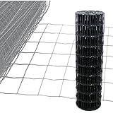 Gartenzaun Anthrazit - 25m Länge x 1 m Höhe + kostenloser Versand / Maschendraht Zaun Gitterzaun Maschung 10x7,5 cm Schweißgitter Wildzaun 25m x 1,0m