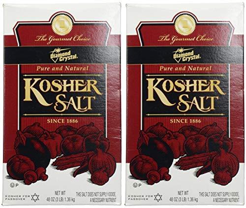 Diamond Crystal Kosher Salt, 48 Ounce (Pack of 2)