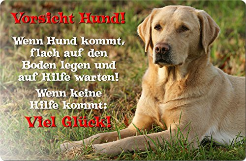 +++ LABRADOR Retriever - Metall WARNSCHILD Schild Hundeschild Sign - LAB 47 T39 BLO