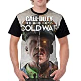 Mens Graphic T-Shirt Call Game Duty Cold-War Short Sleeve Tees Stylish Teen Sweatshirts Tops for Sports XL