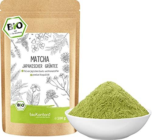 Matcha BIO Pulver 100 g I ohne Zusätze - 100 % natürlich I premium Japan Matcha Tee I Grünteepulver von bioKontor