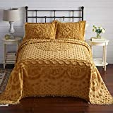 BrylaneHome Georgia Chenille Bedspread - King, Gold