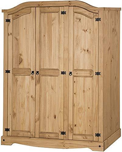 QQDL Armario Superior De 3 Puertas,Wood Color