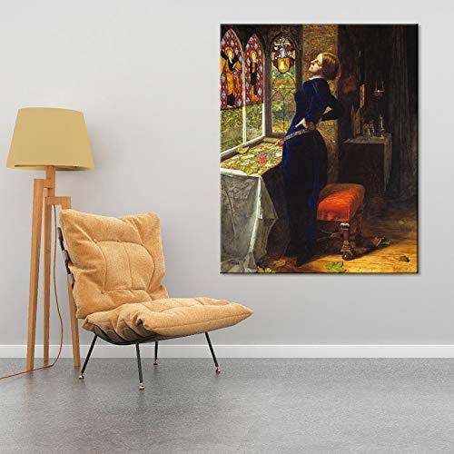 sanzangtang John Poster und Kunstdrucke auf Leinwand Kunst berühmte Pfanne Wohnzimmer dekorative Malerei Rahmenlos 50x62cm