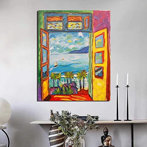 Pintura de paisaje de Matisse, carteles de arte de pared e impresiones, muebles para el hogar, pintura en lienzo decorativa sin marco A1 70x100cm