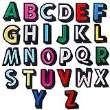 GORGECRAFT 26Pcs Hierro En Parches de Letras, Parches con Apliques de Alfabeto AZ con Parches Decorativos Adhesivos Planchados para Ropa, Sombreros, Zapatos, Camisas, Bolsos, Colorido