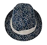 Sombrero Azul Del Capello Del Algodón Trilby Hombres Del Lazo 57 cm S