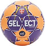 SELECT Mundo – Balón de Balonmano, Color Purple/Orange, tamaño 1