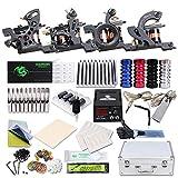 WENHU Tattoo Machine Starter Kit - 4 pièces Machine à tatouer avec des encres de Tatouage, Niveau Professionnel, sécurité, Facile à Installer Alloy Power LCD