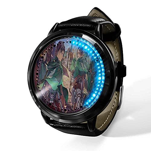 Anime Reloj Attack on Titan Reloj de Pulsera con Pantalla táctil Led Resistente al Agua, Reloj de Pulsera con luz Digital Unisex, Regalo de Cosplay, nuevos Relojes de Pulsera, niños-A