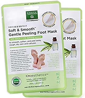 Earth Therapeutics Soft & Smooth Gentle Peeling Foot Mask: 2 Pack