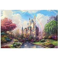 Kptoaz 1000-Pieces Landscape Rainbow Castle Jigsaw Puzzle