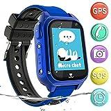 Impermeable GPS Smartwatch para Niños, IP67 Impermeable Reloj inteligente Phone con GPS LBS...