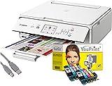 Canon Drucker TS5051 Tintenstrahl-Multifunktionsgerät weiß (Drucken, Scannen, Kopieren, Cloudlink) mit 10 komp. YouPrint Tintenpatronen PGI-570/CLI-571 XL