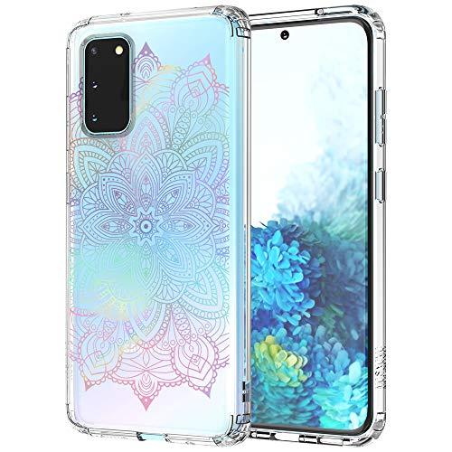 MOSNOVO Galaxy S20 Hülle, Farbverlauf Rainbow Henna Mandala Muster TPU Bumper mit Hart Plastik Hülle Durchsichtig Schutzhülle Transparent für Samsung Galaxy S20 Hülle (Rainbow Henna Mandala)