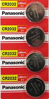 (4pcs) PANASONIC Cr2032 3v Lithium Coin Cell Battery for Misfit Shine Sh0az Personal Physical Activity Monitor