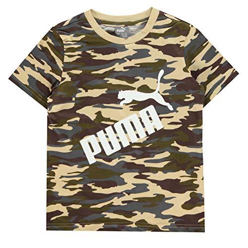 PUMA - Camiseta de Manga Corta con Logotipo de Camuflaje para niño Stampa Mimetica 13 años