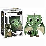 ZJWA Funko Pop Juego de Tronos Figura muñeca 10cm 20 # Power Green Dragon Thunder Brother Figura Coleccionable, Multicolor