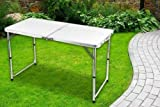 Nestling 4FT/6FT HEAVY DUTY FOLDING TABLE PORTABLE PLASTIC CAMPING GARDEN PARTY CATERING FEET (White, 4)'