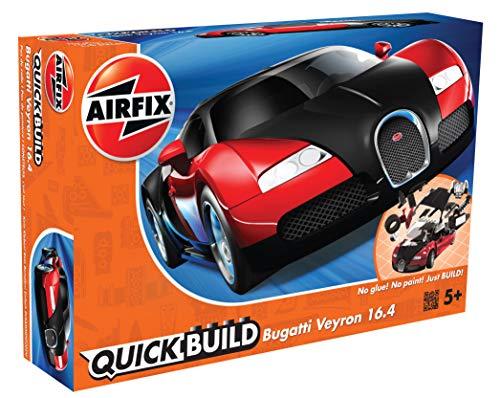 Airfix J6020 QUICKBUILD Bugatti Veyron - Schwarz-rot Modellbausatz
