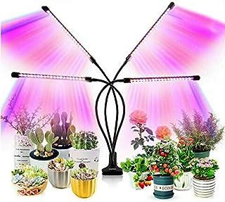 4 Head 80 LED Grow Light Timer(3/9/12 hrs) 3 Light Mode Grow Light Growing Veg Flower, Indoor Clip 40W Plant Lamp