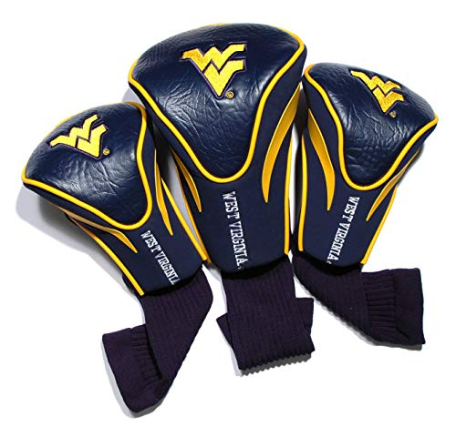 Team Golf NCAA Contour Golf Club Headcovers (3 Count), Numbered 1, 3, & X, Fits Oversized Drivers, Utility, Rescue &...