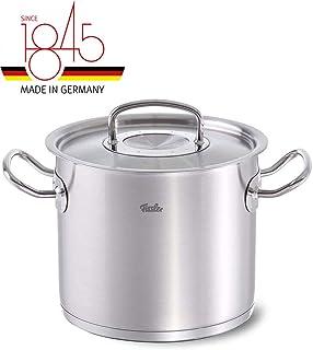Fissler original-profi collection / Olla alta de acero inoxidable (2,6 litros, Ø 16 cm) con tapadera de vidrio, apta para cocinas de inducción, gas, vitrocerámica y eléctricas