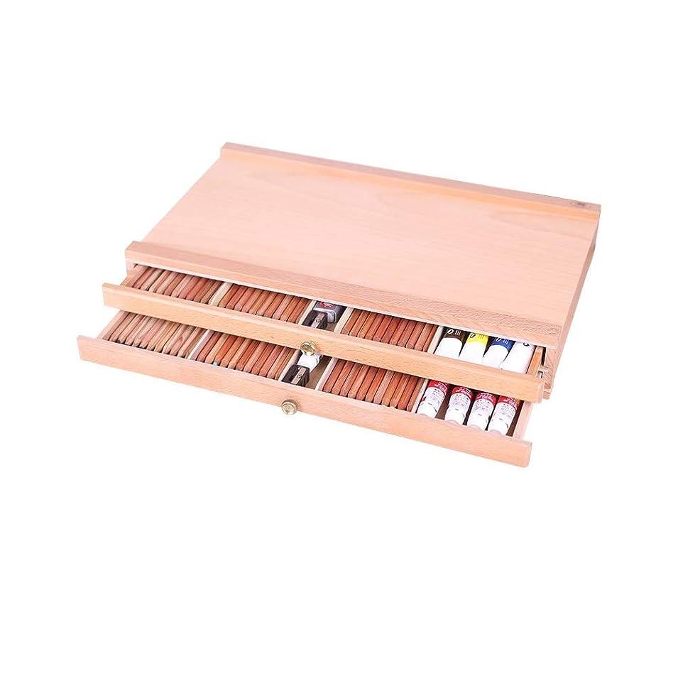 ポスト印象派出力もろいアーティストデスクトップ木製デスクトップポータブルイーゼルブナ塗装ボックス画材