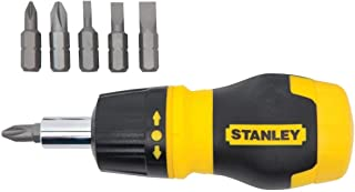 Stanley 66-358 Stanley Stubby Ratcheting MultiBit Screwdriver