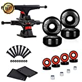 LOSENKA Skateboard Wheels Set,Include Skateboard Trucks, Skateboard Wheels 52mm, Skateboard Bearings, Skateboard Pads, Skateboard Hardware 1'