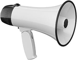 CLISPEED Megafonhögtalare bärbar handhållen lätt bullhorn inspelning megafon för fotboll fotboll basket cheerleading röd