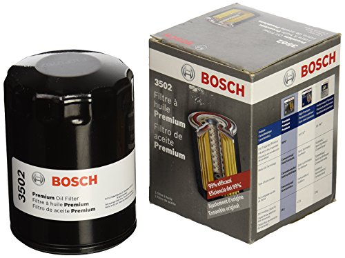 Bosch 3502 Premium FILTECH Oil Filter for Select Buick, Cadillac, Chevrolet Silverado, Suburban, Tahoe, Dodge Dakota, Durango, Ram, Ford Expedition, Explorer, F-150, Fusion, GMC, Jeep