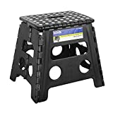 ImiKas Folding Step Stool - 13 inch Height Premium Heavy Duty Foldable Stool For Kids & Adults, Kitchen Garden Bathroom Stepping Stool From