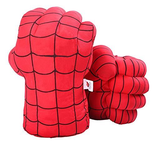 DDGOJUME Guanti Red Spider, 1 Paio di Morbidi guantoni da Boxe Spider Costume in Peluche per Bambini e Regali per Adulti (Rosso)