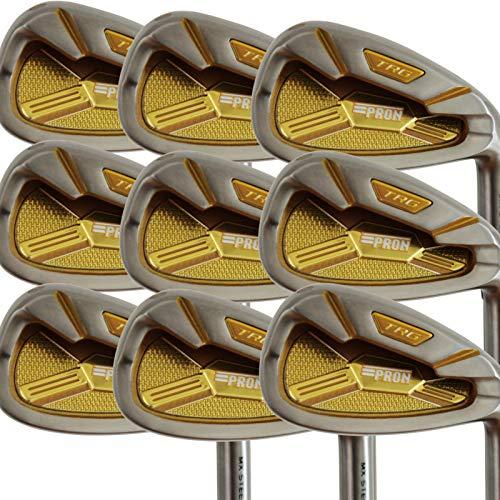 pron Japan TRG 4-P, A, SW Iron Golfschläger-Set, 20 Modelle, Chrom-Finish, Matrix Stain Steel, Regular Flex, Graphitschaft, Grip Mid, Standardlänge, 9 Stück