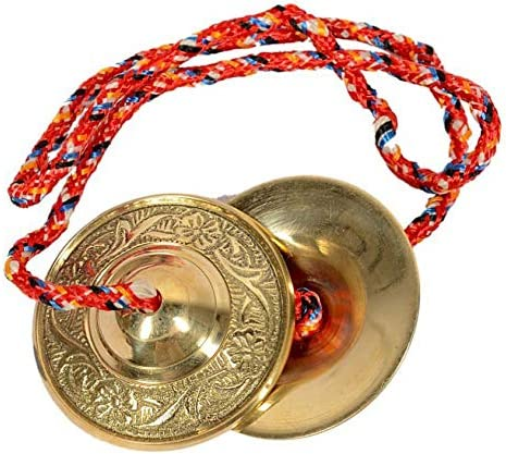 Skywalker Handmade Percussion Instrument - Hand Cymbals Brass Manjira Manjeera - Indian Musical Instrument