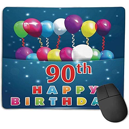 90 Verjaardag decoraties vreugde verrassingsparty stemming beste wensen ballonnen wervel leeftijd negentig voor laptop computer PC-toetsenbord