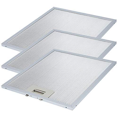 3er Set Metallfilter 305mm x 267mm, Filter für AEG Dunstabzugshaube, Electrolux, Whirlpool, Bauknecht und weitere geeignet. Wie Fettfilter 405525042-9