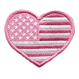 Tactical Heart USA Patch-Pink