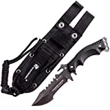 HX Outdoors Fixed Blade Knife with Sheath Sharp Razor Tanto Knife Survival Knife