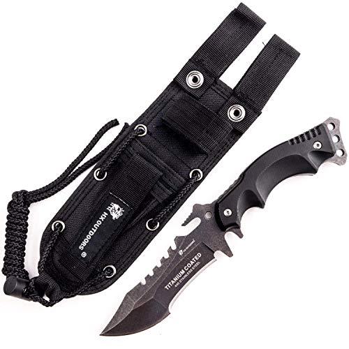 HX OUTDOORS Einhandmesser Überlebensmesser,Companion Messer, Outdoor Survival Messer, Jagdmesser, Ergonomischer Rutschfester G10-Griff (D-123HS)