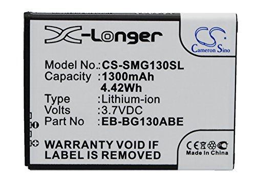 VINTRONS Replacement Battery For Samsung Galaxy Young II,SM-G130,SM-G130E,SM-G130H