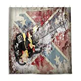 Duschvorhang mit Gitarren-Instrumenten-Motiv, 167,6 x 182,9 cm